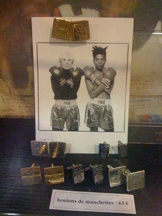 Basquiat cufflinks