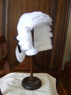 How to make a barrister wig...in case my son decides to be a British judge