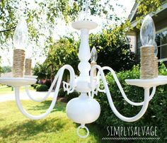 Painted Brass Chandelier Shabby Chic Chandelier