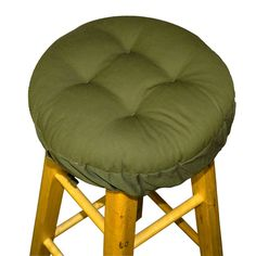 COTTON DUCK OLIVE BARSTOOL COVER WITH CUSHION AND ADJUSTABLE YOKE  #StPatricks