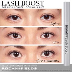 9a976fce889 Rodan + Fields Lash Boost, a nightly eyelash conditioning serum to improve  the appearance of lashes. giving the look of fuller darker and longer. have  a ...