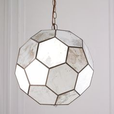 Faceted Antique Mirror Pendant Antique mirror octogons are soldered together to create this faceted style pendant  sc 1 st  Pinterest & ROZZ AM - ANTIQUE MIRROR FACETED PENDANT. USES THREE 40W ... azcodes.com
