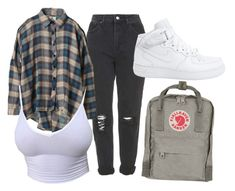 """Outfit Inspo #1"" by sunsetsandflowers on Polyvore featuring Topshop, UNIF, NIKE and Fjällräven"