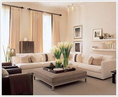 Living room clean white