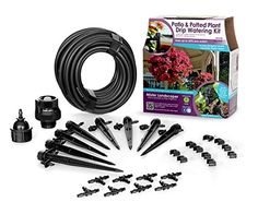 Mister Landscaper MLKPWK Patio  Potting Plant Drip Irrigation Watering Kit * Check out the image by visiting the link.