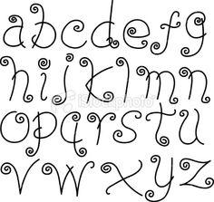 Doodle Font - Letters, Lower Case, Alphabet, Text Royalty Free Stock Vector Art Illustration