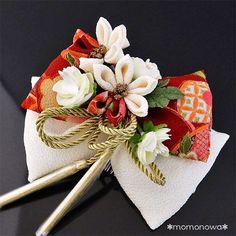 ももの和 - 髪飾り ちりめん 和柄 花 リボン りぼん 卒業式 成人式 振袖 袴 白 赤|Yahoo!ショッピング