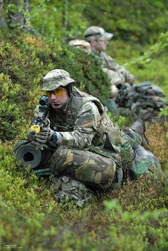 RAF Regiment gunners with the Royal Air Force Reserves are pictured on exercise in Bardufoss, Norway.