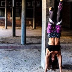 Handstand in these super funky yoga pants by www.spiritgirl.co.za these pants are called the Pineapple express and they are made from recycled plastic, moisture wicking, breathable and ultra comfy.