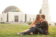 LACMA and Griffith Observatory Engagement Session from Eyelet Images | Southern California Bride