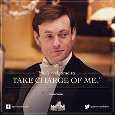 I always thought Evelyn was quite a nice fellow ~ more my style than Lady Mary's for sure!