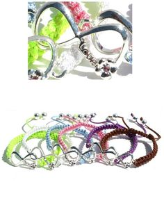 Fits 4 years & up.  Adjustable Infinity Macrame Bracelet.  Shayzee.com