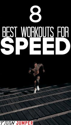 Speed is key in all running events and sports. Simply running more is not enough to get your desired speed. Here are 8 excellent workouts for those who want to push their limits. Lifting Workouts, Running Workouts, Fun Workouts, Running Tips, Running Track, Agility Training, Training Equipment, Steve Prefontaine, Home Exercise Routines