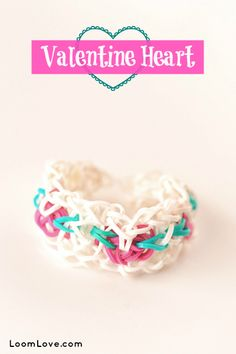 How to Make a Valentine Heart Bracelet - Rainbow Loom Video Tutorial