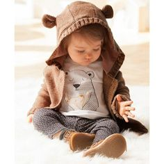 Bild 8 Set aus Strickjacke, Hemd und Leggings R Baby via Deux par … - Kindermode Baby Outfits, Outfits Niños, Little Boy Outfits, Little Boy Fashion, Baby Boy Fashion, Newborn Fashion, Baby Dresses, Baby Cardigan, Cardigan Bebe