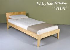 Design idea of building simple wooden bed frame; on your own creation : Gorgeous Modern Simple Wood Bed Frame KIds Oak Wood Materials Design. Toddler Bed Frame, Kids Bed Frames, Wooden Bed Frames, Wood Beds, Kids Bed Design, Bed Frame Design, Kids Beds With Storage, Kids Bunk Beds, Simple Wood Bed Frame