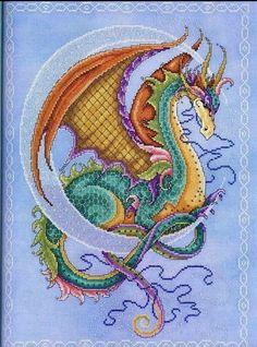Gallery.ru / Фото #1 - Схемы - драконы. - ancotir