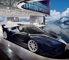nice Ferrari FXX-K Blue...  Ferrari Check more at http://autoboard.pro/2017/2016/12/28/ferrari-fxx-k-blue-ferrari/