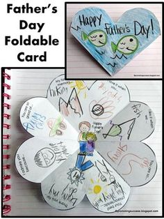 """Father's Day Craft Card - In this Father's Day craftivity, your students will be drawing or writing about their dad or special person in their lives. The are nine variations of the ONE Father's Day card, including open-ended options to meet the individual needs of all your students. Some of the templates say """"special person"""" instead of """"Father's Day"""". This Father's Day craft activity works well year after year for multiple grade levels due to the different templates and writing or drawing…"""