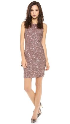 alice + olivia Kimber Embelilshed Fitted Dress $653.49 Allover sequins add a flash of drama to this formfitting alice + olivia dress. Exposed back zip. Lined.  Fabric: Stretch mesh. 98% nylon/2% spandex. Dry clean. Imported, India. Types Of Dresses, 15 Dresses, Nice Dresses, Fitted Dresses, Salsa Dress, Rock Chic, Holiday Dresses, Sequin Dress, Bodycon Dress