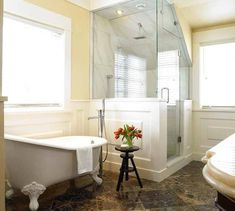 angled shower clawfoot tub u003d dream bathroom home is where the heart is pinterest dream bathrooms and tubs