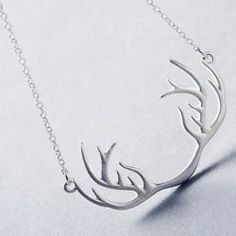 SHARE & Get it FREE | Cute Solid Color Antler Shape Pendant Necklace For…