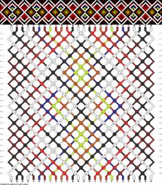 26 strings, 26 rows, 9 colors