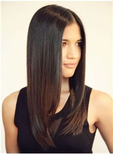 18 Inches 120% Straight Full Lace Cap Human Hair
