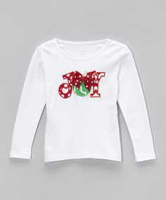Look at this Waistin' Away White 'Joy' Tee - Infant, Toddler