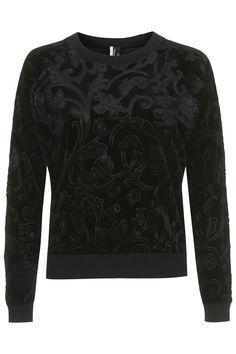 Velvet Jacquard Sweater