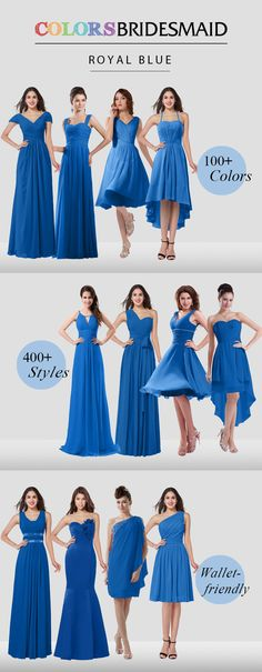 Graceful bridesmaid dresses in royal blue color are ready for you. The affordable price won't break your bank.