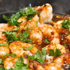 Cilantro Garlic Shrimp