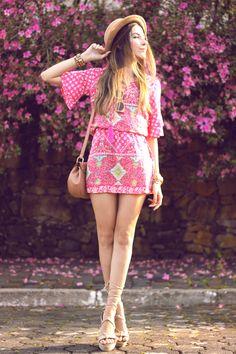 FashionCoolture - 18.09.2015 look du jour Displicent pink printed dress summer outfit (3)