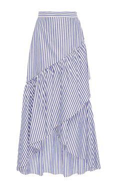 Ruffled Pencil Skirt by MDS STRIPES for Preorder on Moda Operandi