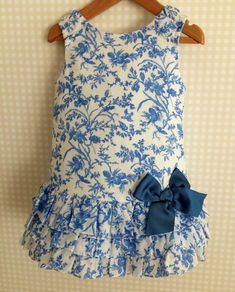 Lower ruffles and a bow to this A line Little Dresses, Little Girl Dresses, Girls Dresses, Summer Dresses, Little Girl Fashion, Toddler Fashion, Kids Fashion, Toddler Dress, Baby Dress