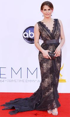 Anna Chlumsky #Emmys2012 - This is how you do a black lace evening gown. Simplistic perfection.