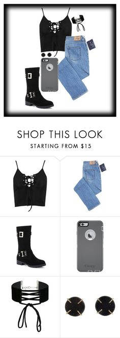 """""""Why you gotta fight with me at cheesecake ?"""" by ciarabieber ❤ liked on Polyvore featuring Boohoo, OtterBox, Miss Selfridge and Melissa Joy Manning"""