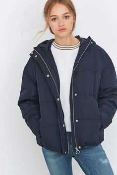 Light Before Dark Hooded Quilted Jacket - Urban Outfitters