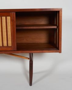Rare and Exceptional George Nakashima Cabinet. Shelving detail.