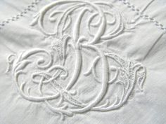Vintage French Pillow Cases  Monogram Euro Shams by Vintagefrenchlinens