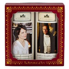 Downton Abbey® Upstairs Gift Set  Combine my love for Downton and good tea and you get this beautiful combo!