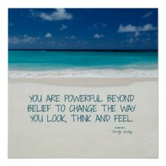 Powerful Beyond Belief: Beach #Fitness #Motivation > Poster with #quote