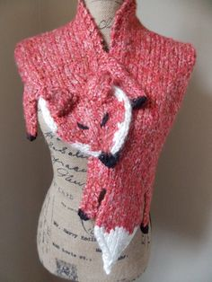 Fox Stole Scarf by cheshirecatmad on Etsy, $75.00