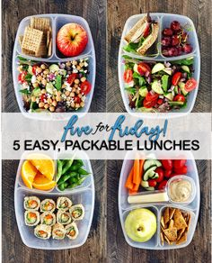 Five for Friday: 5 Easy, Packable Lunches, perfect for back-to-school (and work!)