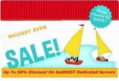 Up to 50% discount on dedicated #hosting