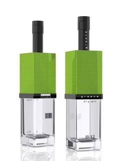 Vodka packaging design by Arthur Shraiber.  Love the lime green.   Very striking IMPDO.