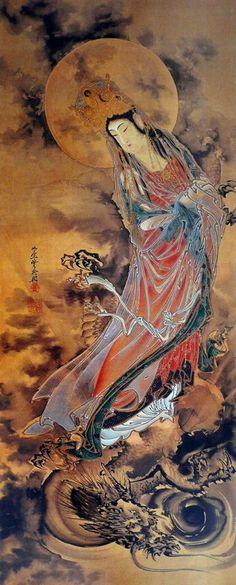 ~ Kawanabe Kyōsai / The Goddess Guanyin