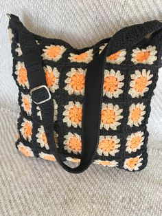 Crochet 'granny square' bag to Lilla (~45X45)