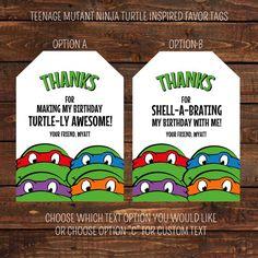 Teenage Mutant Ninja Turtle Inspired Favor Tags by LuLuPaperPrints