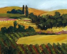 DPW Fine Art Friendly Auctions - On the Way to Napa by Libby Anderson